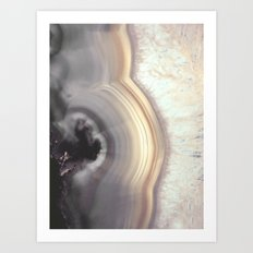 Taupe Agate Art Print