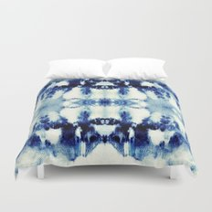 Tie Dye Blues Duvet Cover