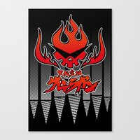 gurren lagann Canvas Prints featuring gurren lagann by tama-durden
