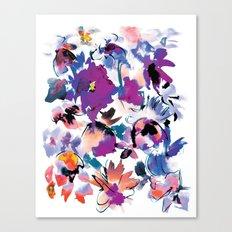 Sara Floral Blue Canvas Print