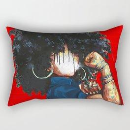 Naturally the Riverter RED Rectangular Pillow