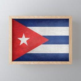 Flag of Cuba, grungy retro version Framed Mini Art Print