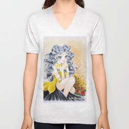 Luna, when a dream come true, by Suki Manga Art Unisex V-Neck