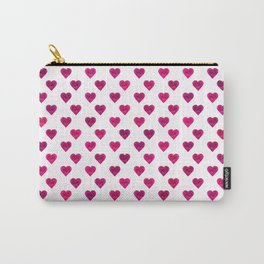 Polka Dot Hearts Carry-All Pouch