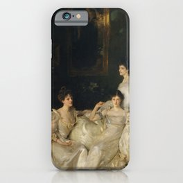 The Wyndham Sisters - Lady Elcho, Mrs. Adeane, and Mrs. Tenant by John Singer Sargent iPhone Case