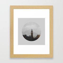 Grungy London Circle Framed Art Print