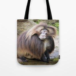 Baboon Looking At me Tote Bag