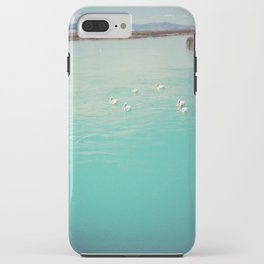 Pelicans on the Blue Lake iPhone Case