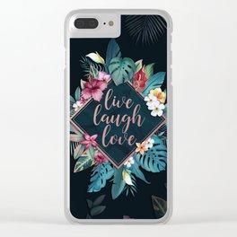 Live laugh love Clear iPhone Case