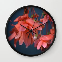 Trailing Red Begonia Wall Clock