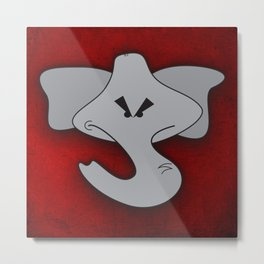 Enraged Elephant Metal Print