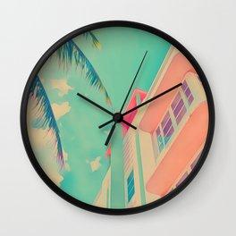 Miami White Wall Clock
