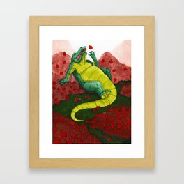 Allison's Alligator Framed Art Print