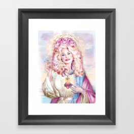 Saint Dolly Parton Framed Art Print