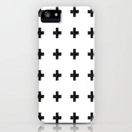 Watercolor Swiss Cross (White) iPhone Case