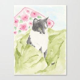 Miss Green Eyes Canvas Print