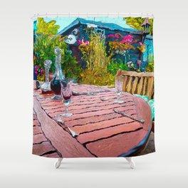 The Garden Table Shower Curtain