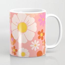 Groovy 60's Mod Flower Power Coffee Mug