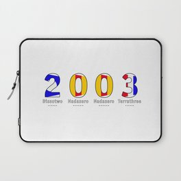 2003 - NAVY - My Year of Birth Laptop Sleeve
