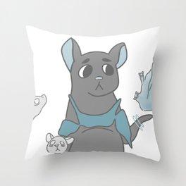 Rat Spirit Throw Pillow