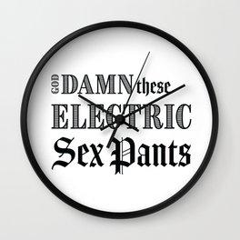 Electric Sex Pants Wall Clock
