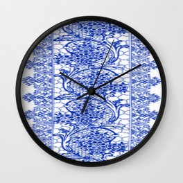 Sapphire Blue Lace Wall Clock