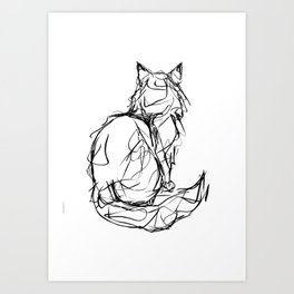 Kitty Gesture Art Print