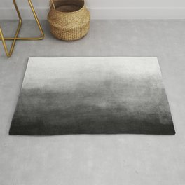 Ombre Paint Color Wash (black/white) Rug