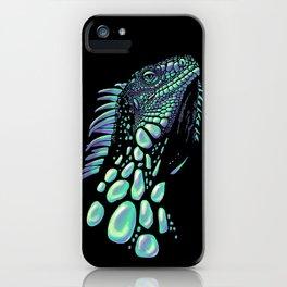 Iguana black iPhone Case