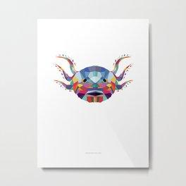 Ajolote Color Geometric Metal Print