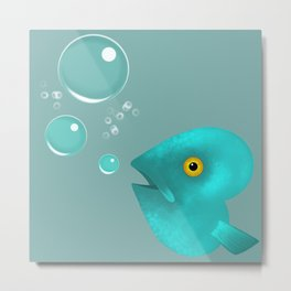 Silent as a Fish Metal Print