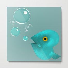 Silent as a Fish Metal Print