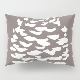 Pinecone Taupe Brown Pillow Sham