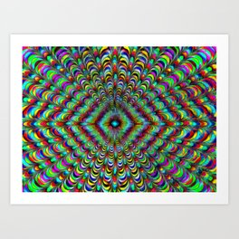 Frilly Paintbox Fractal Art Print