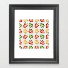 Mixed Peppers Pattern Framed Art Print