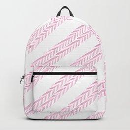 Girly neon pink hand drawn watercolor geometrical chevron Backpack