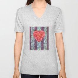 High Energy Squiggle Heart - Impressionist Heart Art Unisex V-Neck