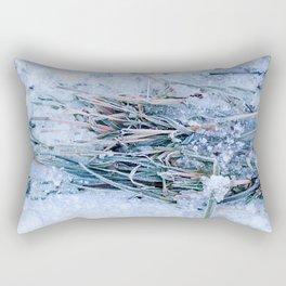 Frosty Grass Rectangular Pillow