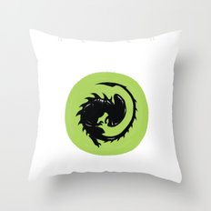 Alien Origin Throw Pillow