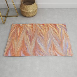Sunset, Combed Marbling Pattern Rug