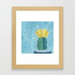Yellow Moon Cactus Framed Art Print