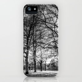 The arrival of autumn iPhone Case