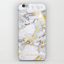 Original Gold Marble iPhone Skin