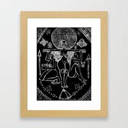 2013 Goddess of Balance (black design) Framed Art Print