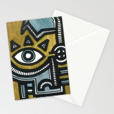 Blue and Gold Face Stationery Cards