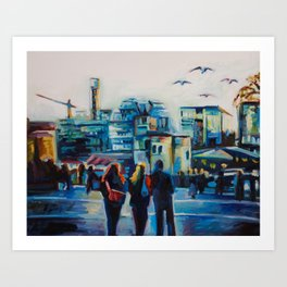 New and Old in London Art Print