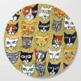 25 Cat Heads Cutting Board