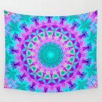 kaleidoscope Wall Tapestries featuring Kaleidoscope by Sylvia Cook Photography