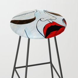 Sureal Expressionism Exhausted Portrait of a Woman Orange Distorted Melting Bar Stool