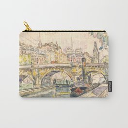 "Paul Signac ""Tugboat at the Pont Neuf, Paris"" Carry-All Pouch"